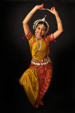 Amrita in Odissi pose